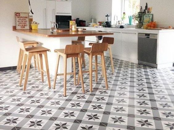Déco Carrelage Aspect Carreaux Ciment Revisités ABK Docks - Carrelage imitation carreaux de ciment pour idees de deco de cuisine