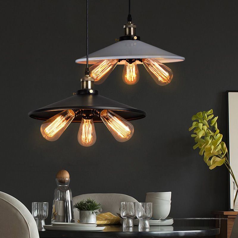 American White Black Droplight Country Pendant Lights Fixture Home Lighting Cafes Pub Restaurant Coffee Dining Room Light