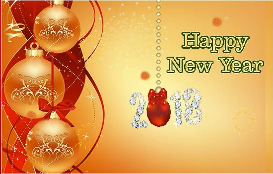 happy new year 2018 lovely greeting card to wish