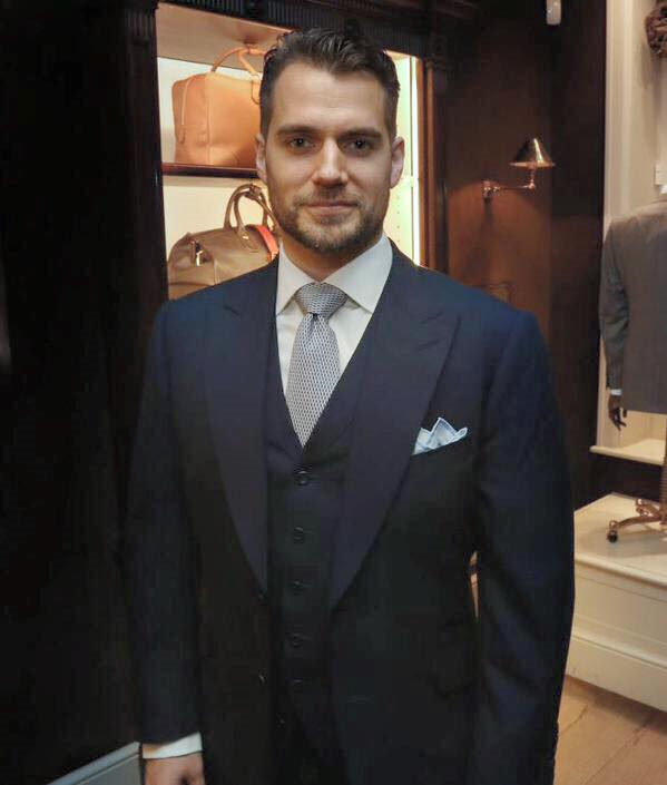 Henry Cavill looking sharp in Alfred Dunhill as he attends the World Land Trust's Name an Orchid event at Bourdon House!