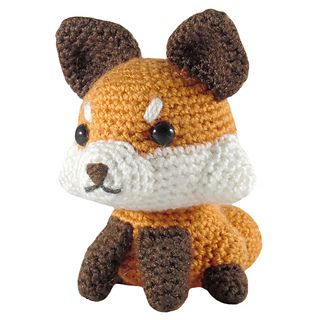 Ravelry: Felted Knit Amigurumi Fox pattern by Lisa Eberhart | 320x320