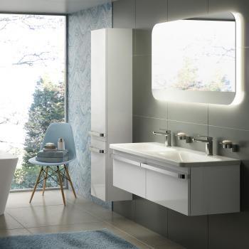 Ideal Standard Tonic II Ein Doppelwaschtisch-Unterschrank mit LED - led lampen für badezimmer