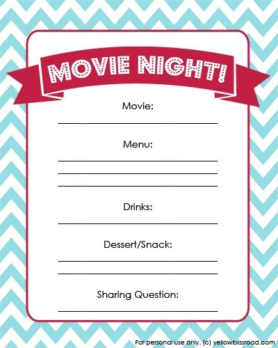 Super Power Punch And Free Printable Movie Night Planner Kiddos