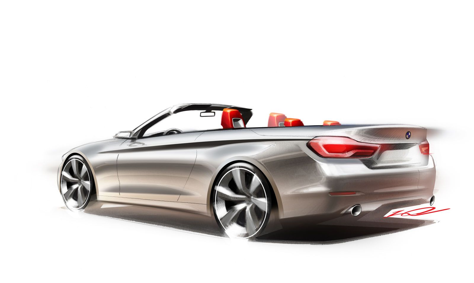 BMW Series Convertible Design Sketch Car Sketches Pinterest - 2013 bmw 4 series convertible