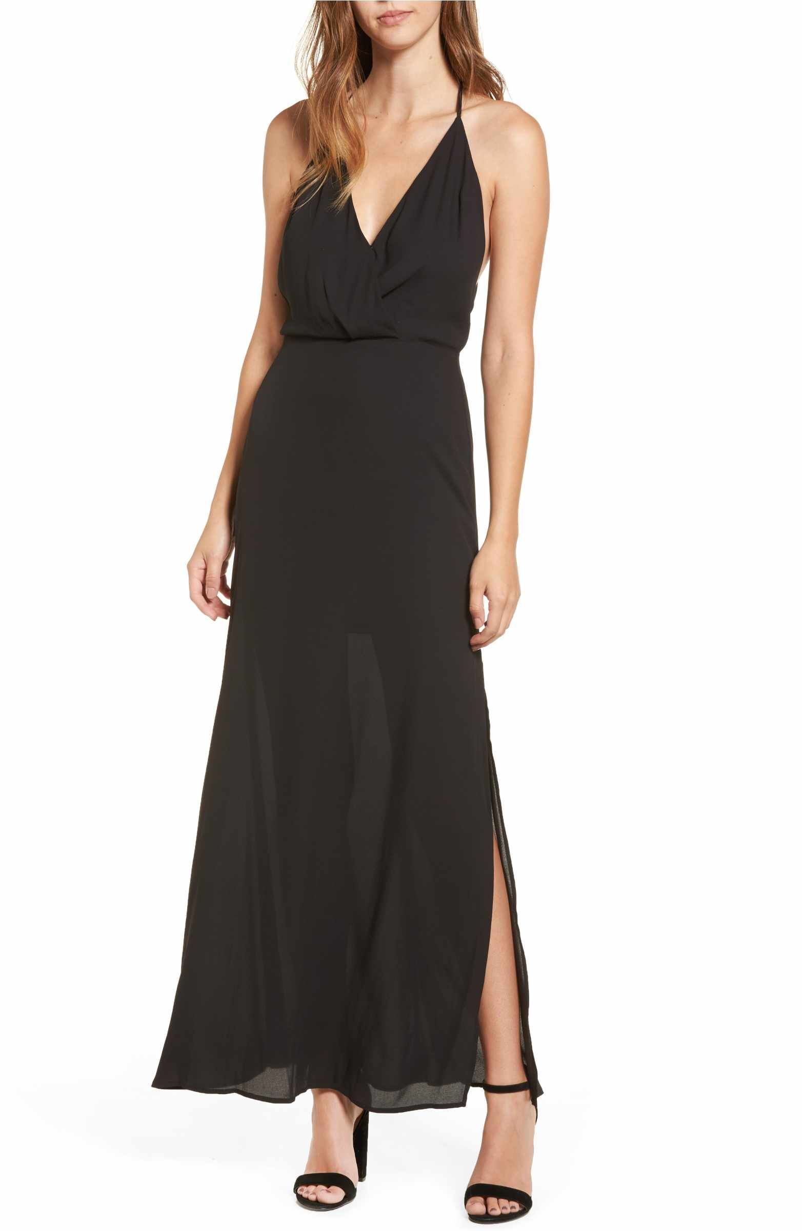 Dressy Black Maxi Dresses
