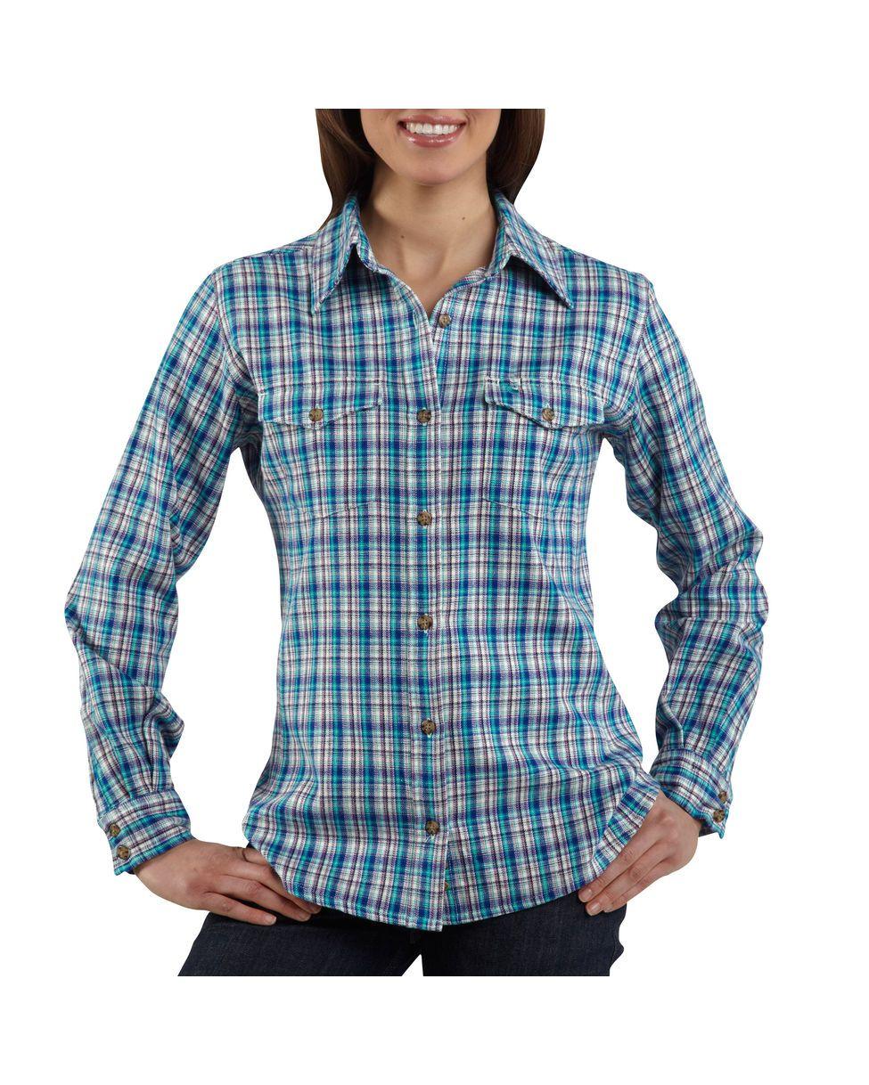 Flannel shirt outfit women  Carhartt Womenus Midweight Flannel ButtonFront Shirt  Clothes