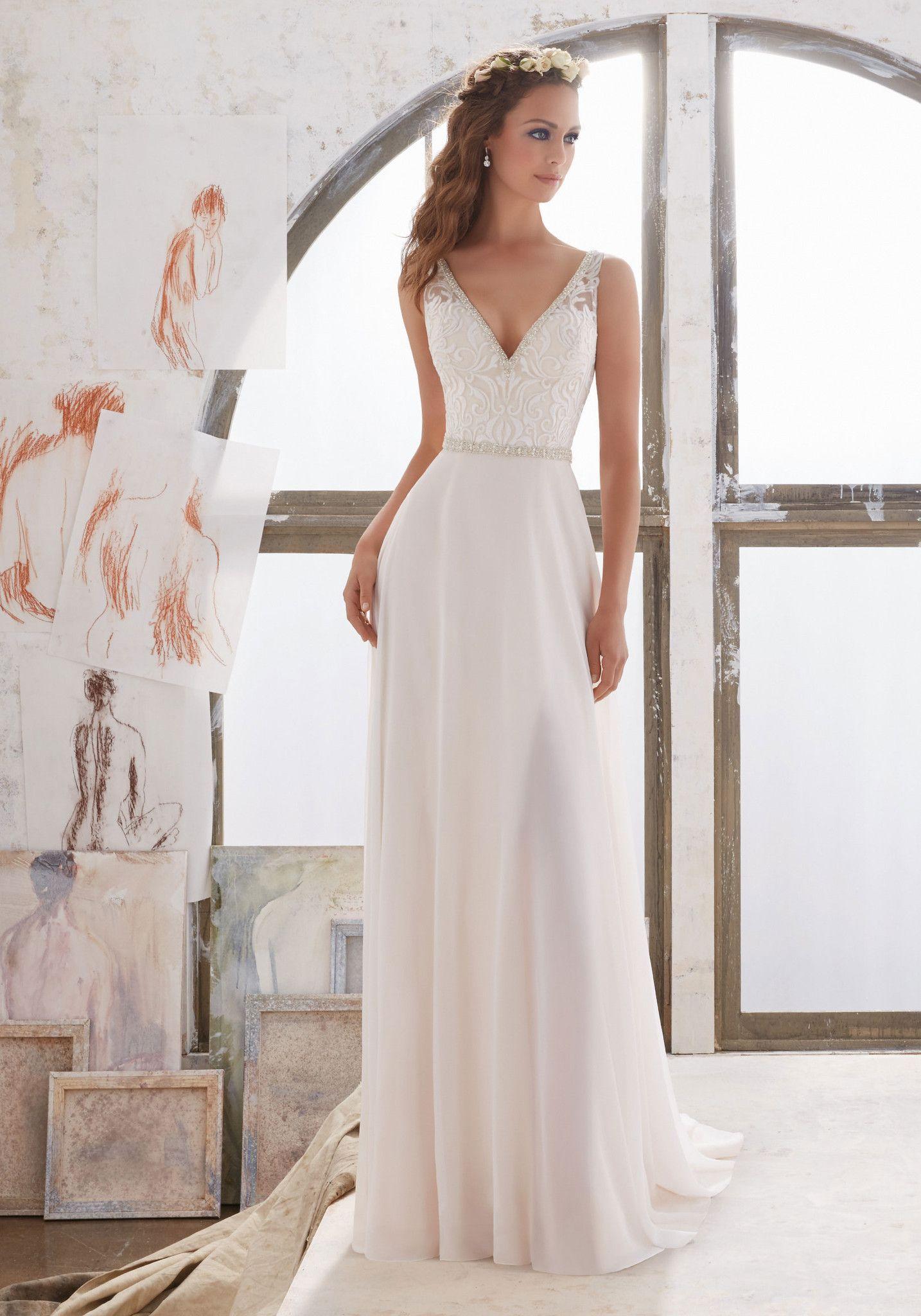 Simple elegant wedding dress designers  Blu  Marjorie    All Dressed Up Bridal Gown   weddings