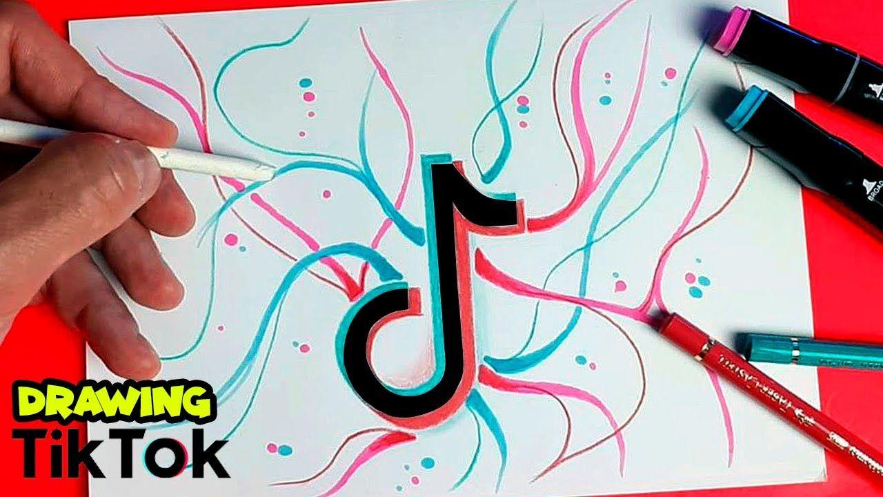 Como Dibujar El Logo De Tik Tok Dibujos De Tik Tok Cómo Dibujar Dibujo Paso A Paso Dibujos