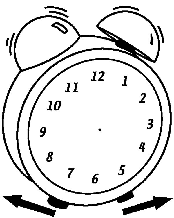 Replace You Old Watch With Analog Clock Coloring Pages