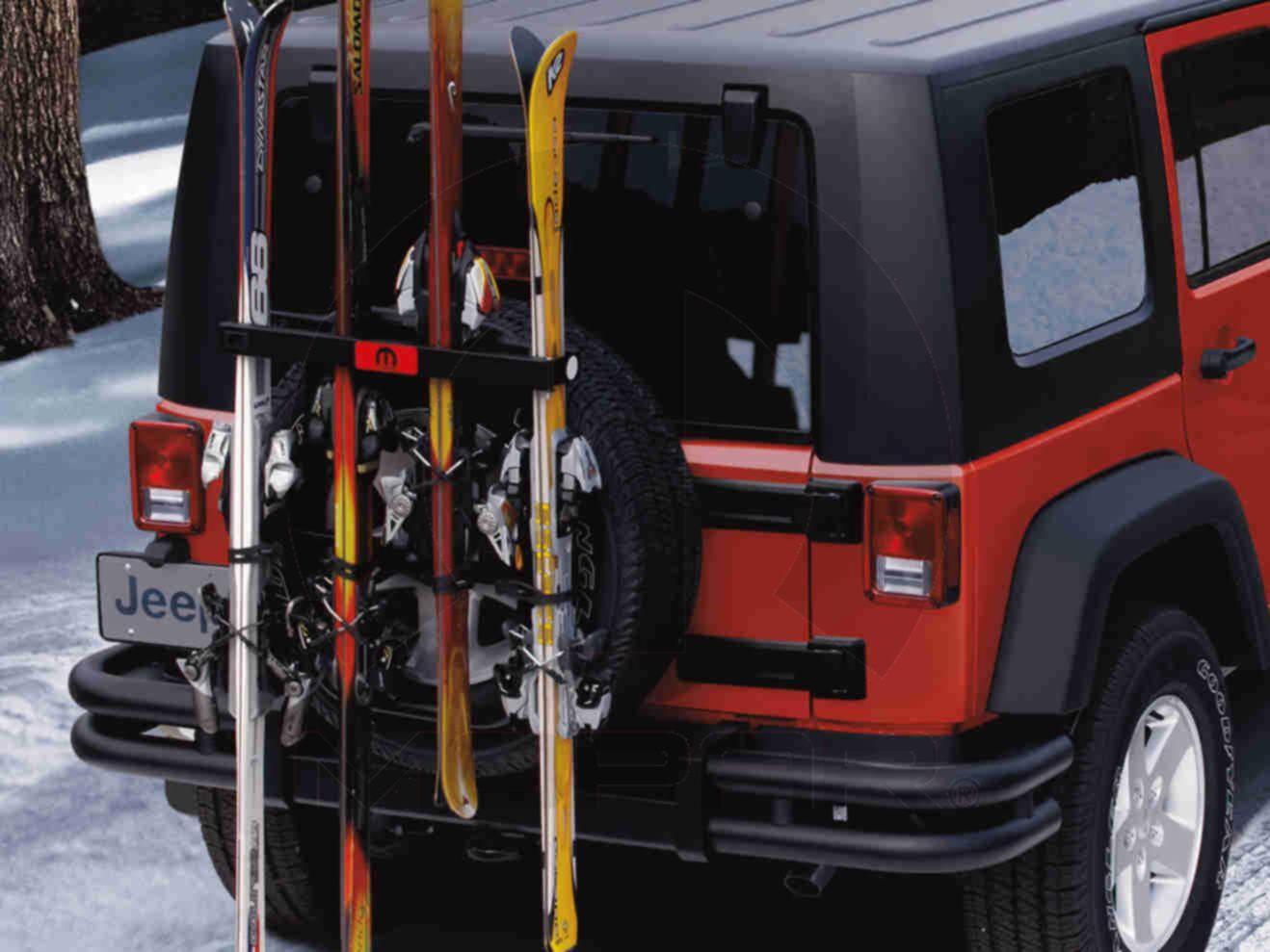 Ski Snowboard Carrier Spare Tire Mount Thsc9033 Mopar Jeep Wrangler Tj Spare Tire Mount Jeep Wrangler