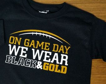 Game Day Football Black Youth T-Shirt