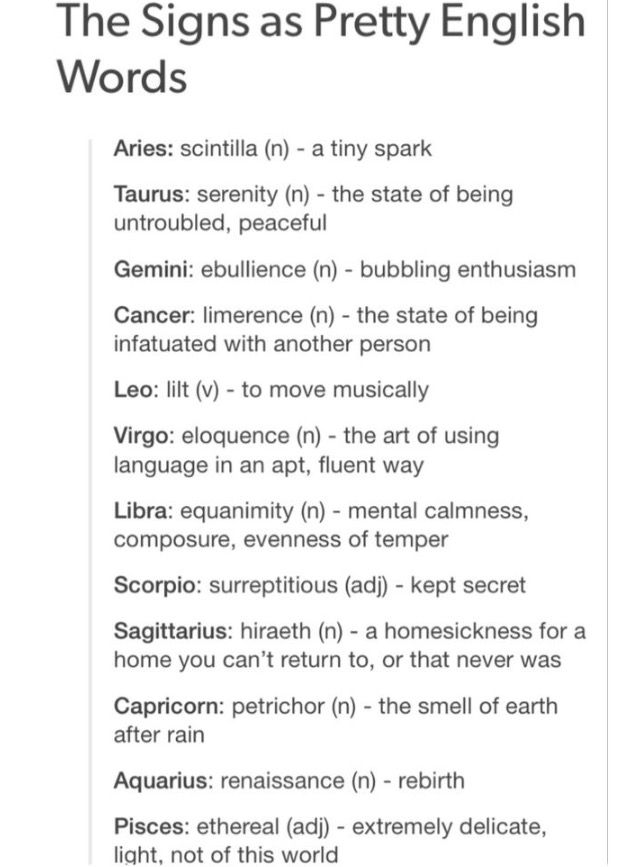 zodiac signs personality
