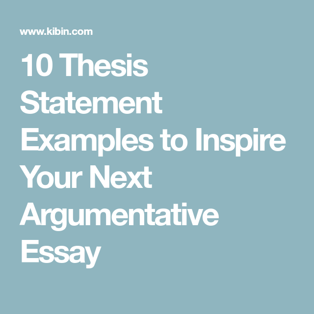 Master thesis statement
