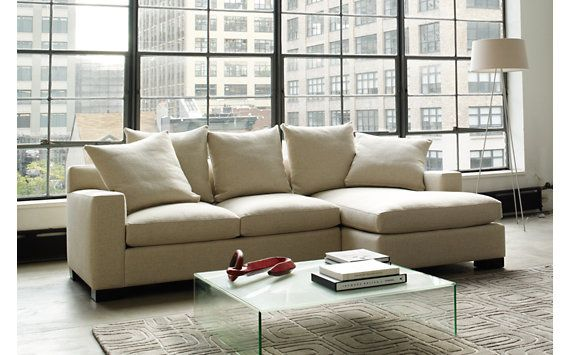 Muse Sectional Chaise Right in Fabric C   For the Home   Sectional ...