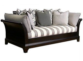 couch bed thing huge lounge digging the stripes not sleigh bed thing but this is pretty gender neutral which am fan of haven daybed bedrooms pinterest daybed bed and sofa