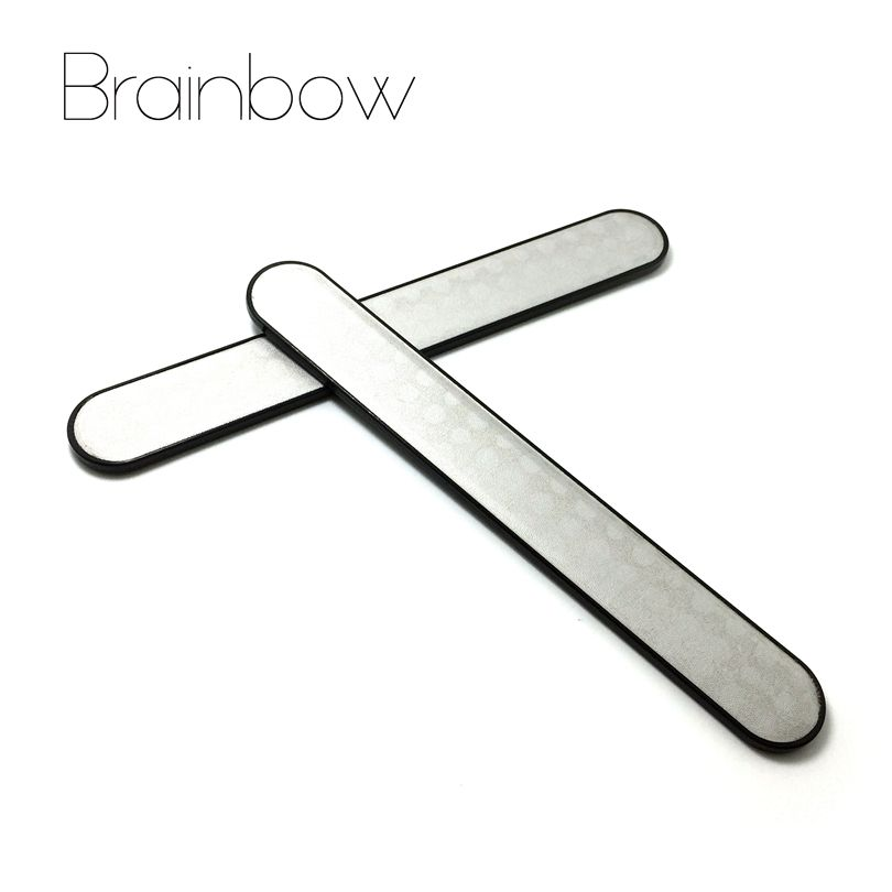 Brainbow 2pc Stainless Steel Nail Files Buffer Sanding Polishing ...