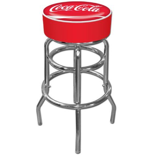 Trademark Gameroom Coca Cola Padded Swivel Bar Stool Best Price