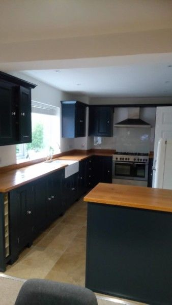 Best Hand Made Kitchen F B Hague Blue Solid Oak Tops Hague 400 x 300