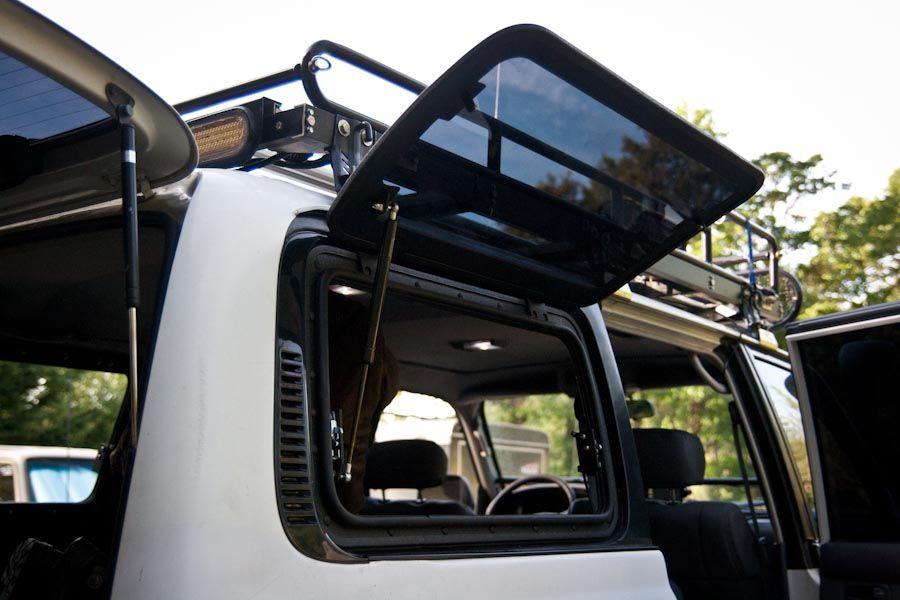 Wagongear Com Flip Up Hatch Window Land Cruiser 80 Land Cruiser Fj Cruiser