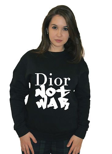 Dior not war homies jumper hipster peace cnd sweater fashion sweatshirt women is part of Clothes Hipster Peace -
