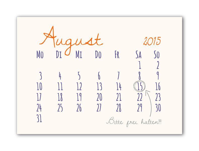 Geburtstagseinladung Kalender