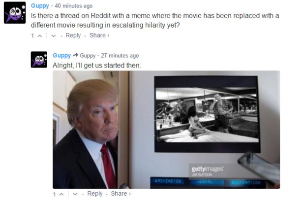 Photoshop Contest: Which Film is Donald Trump Interrupting?