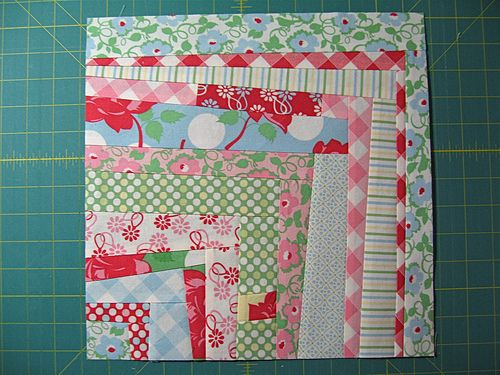 Log Cabin Quilt Variations Are A Great Way To Inject Life Into A Quilt.  This Wonky Quarter Log Cabin Block Puts A Modern Spin On The Traditional  Log Cabin ...