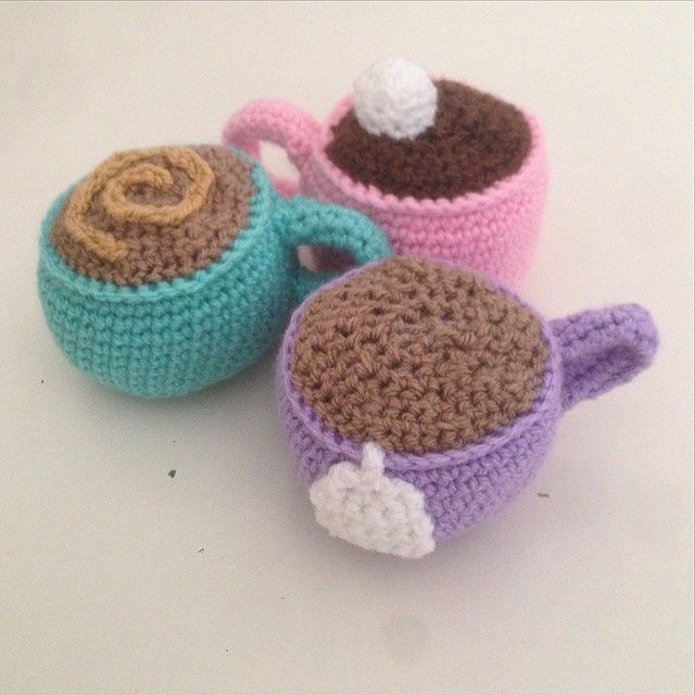 littlefoxcrochet crochet hot chocolate