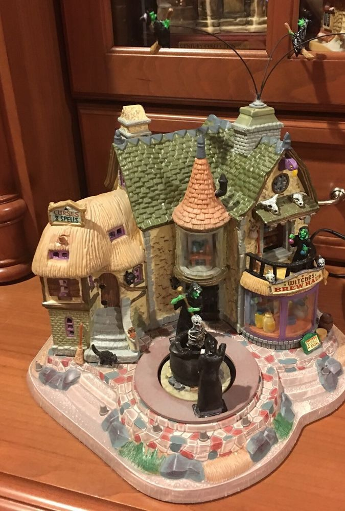 Lemax Spooky Town WITCHES BREW HAUS Village House Animated
