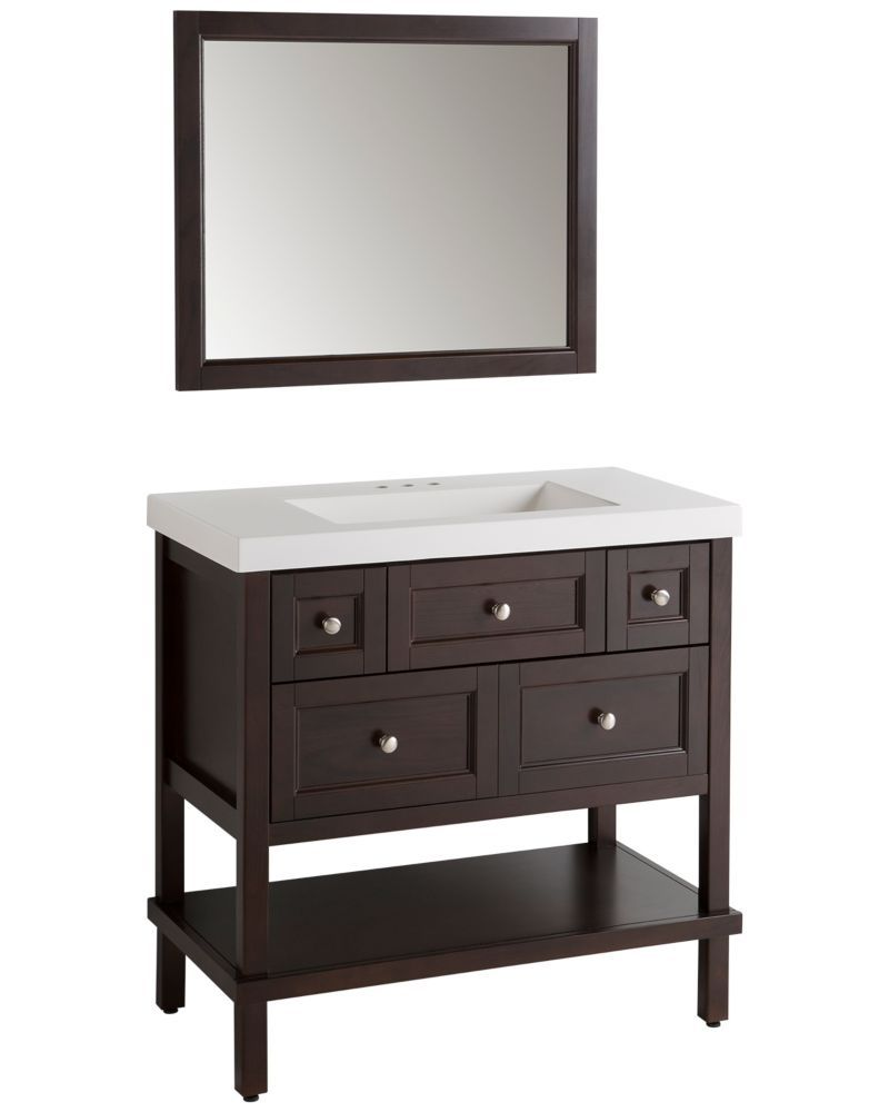 Fine Ashland Ii 36 Inch Vanity In Chocolate With Vanity Top And Download Free Architecture Designs Rallybritishbridgeorg