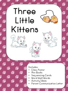 Nursery Rhyme Three Little Kittens Nursery Rhymes Little