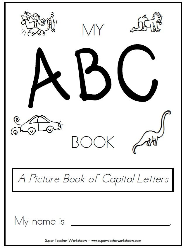 Check Out This Pintable Book Of Capital Letters Students Can Color Write And Trace
