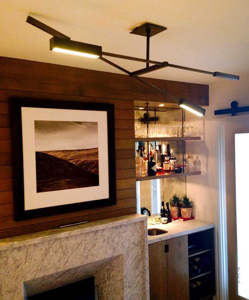 Wine Cellar Light Fixtures: Darryl Carter & UECo - Beckett Double - DC-1255