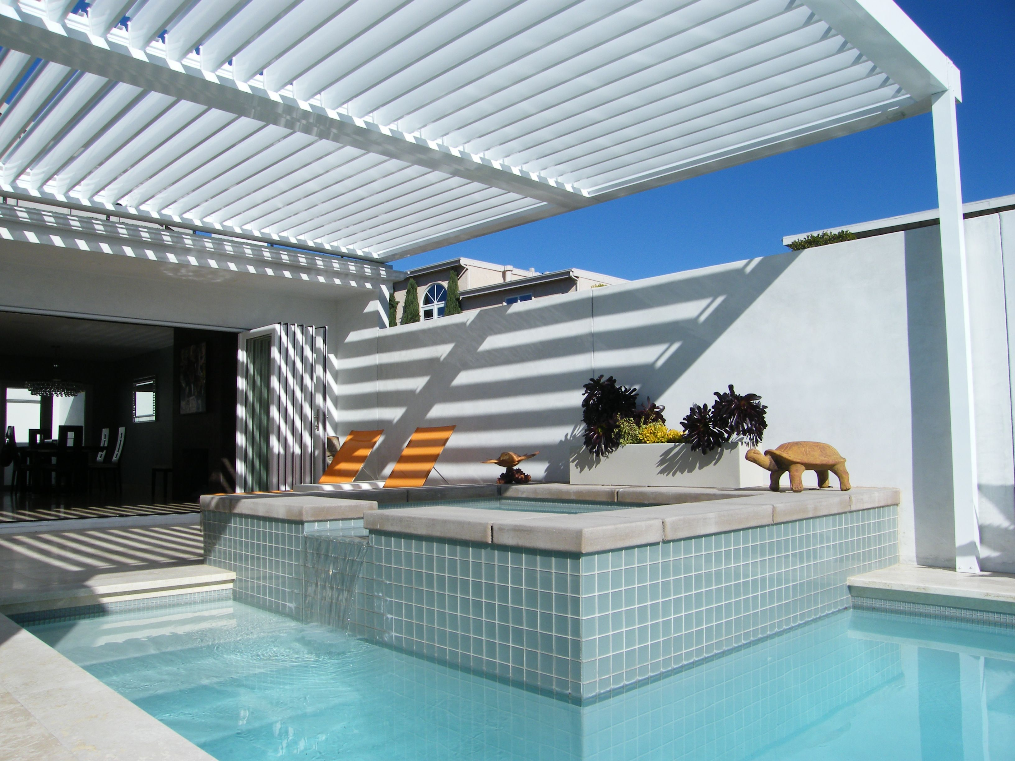 Equinox Louvered Roof system Patio Cover - Alumawood Factory ...