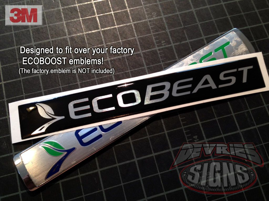 Nice Great Domed FORD ECOBEAST emblem overlays ecoboost eco boost F