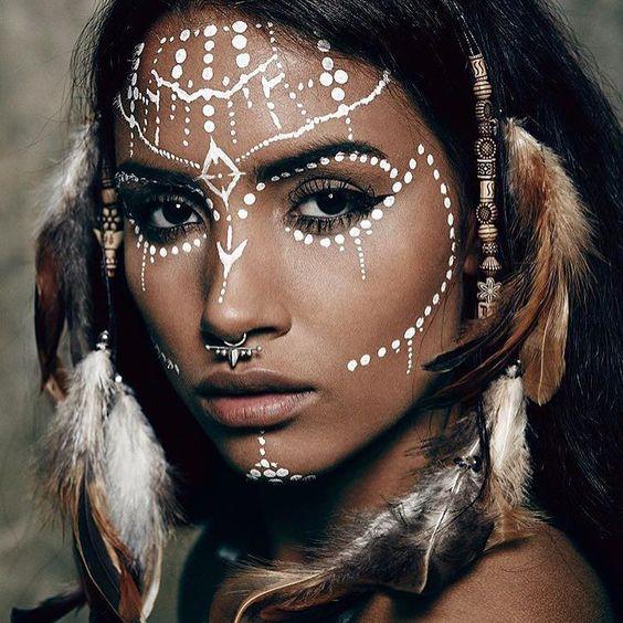 pingl par heather michelle sur festival makeup pinterest deguisement halloween maquillage. Black Bedroom Furniture Sets. Home Design Ideas