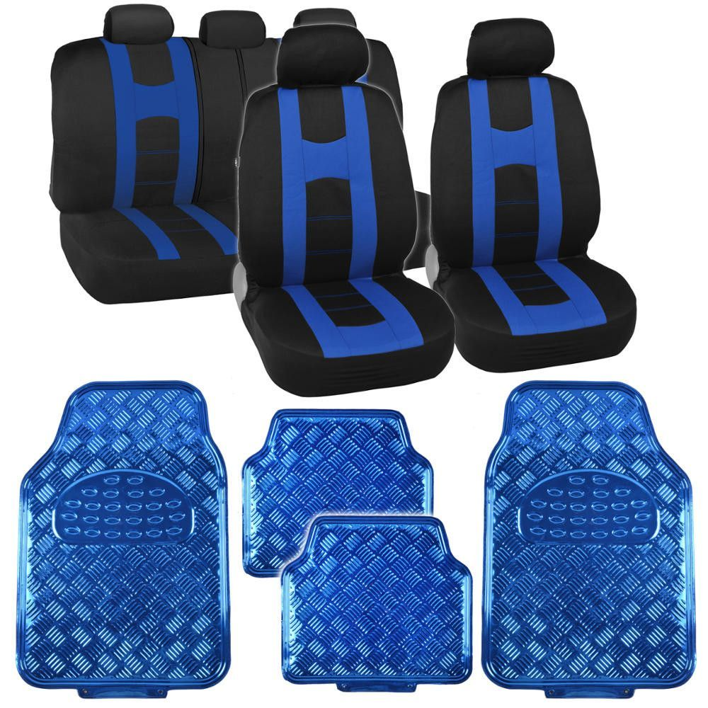 Black & Blue Rome Sport Stripe Seat Covers w/ Shiny