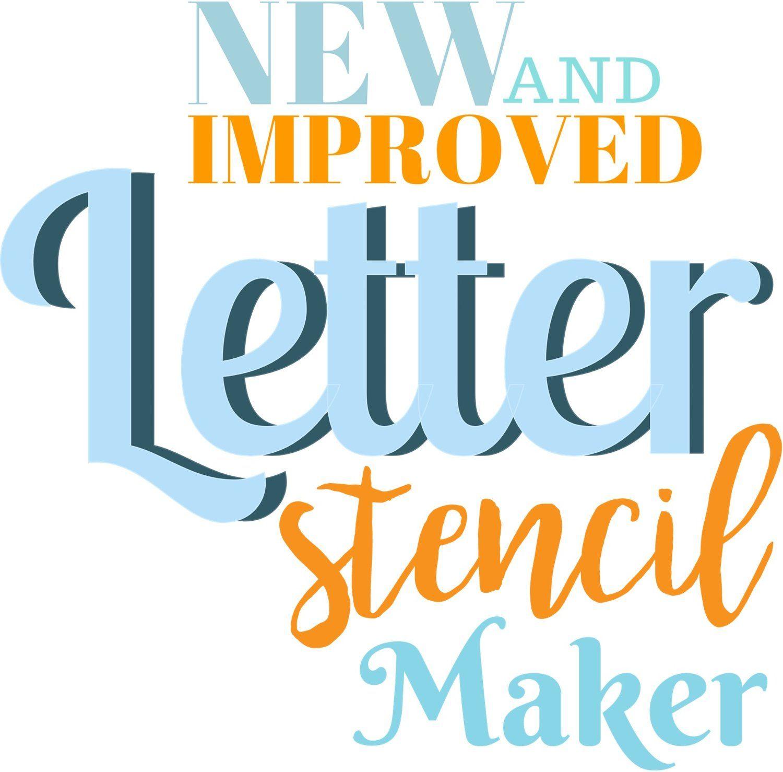 free letter stencil maker