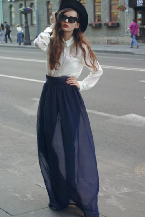 Feel the breeze…Long flowy skirts (29 photos) | Ankle, Clothes and ...