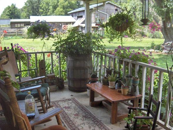 Our Country Porch Porche Designs Decorating Ideas