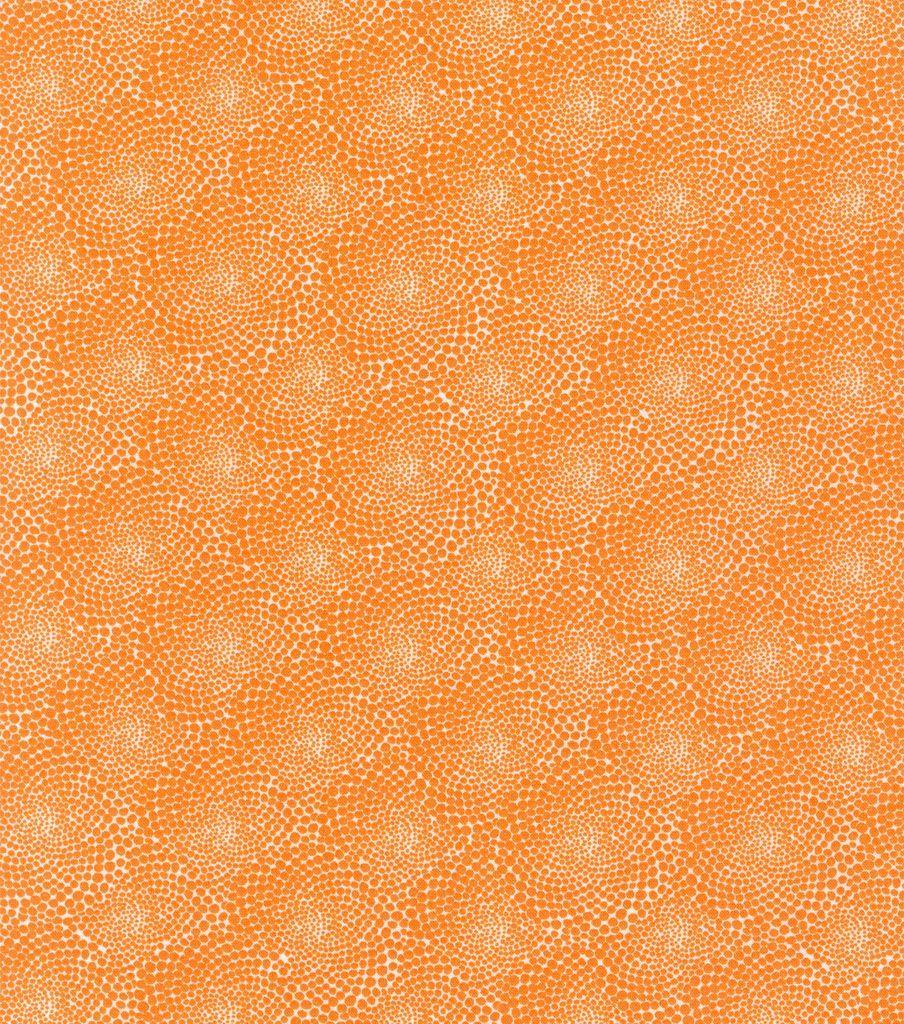 Valori Wells Cotton Fabric-Flower Dots Tangerine