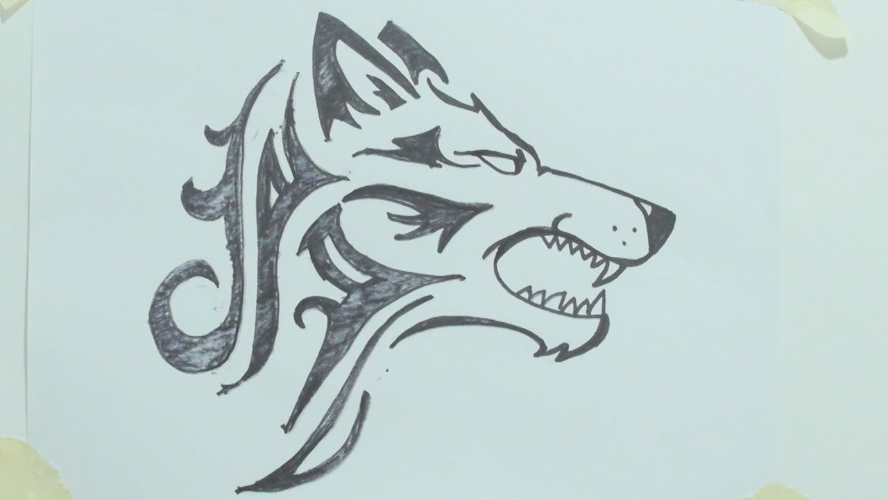 Pin By Jack Piddington On Crafts Cool Wolf Drawings Wolf Drawing Easy Cartoon Drawings