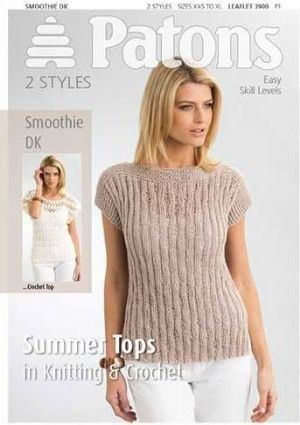 3900 Patons Summer Tops Smoothie Dk Knitting Crochet Pattern Strik