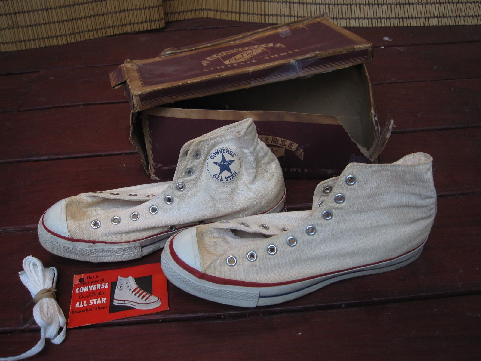 73b7bf3f88e106 Vtg 1953-1958 Men s Converse Sz 10.5 Chuck Taylor All Star Made in USA Hi  White