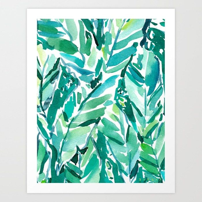 Buy BANANA LEAF JUNGLE Green Tropical Art Print By Barbraignatiev Worldwide Shipping Available At Society6