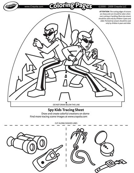 spy kids coloring page