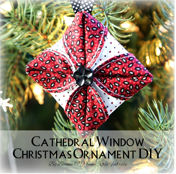 Folded Fabric Christmas Tree: Penny Rose Fabrics Blog: Cathedral Window Christmas
