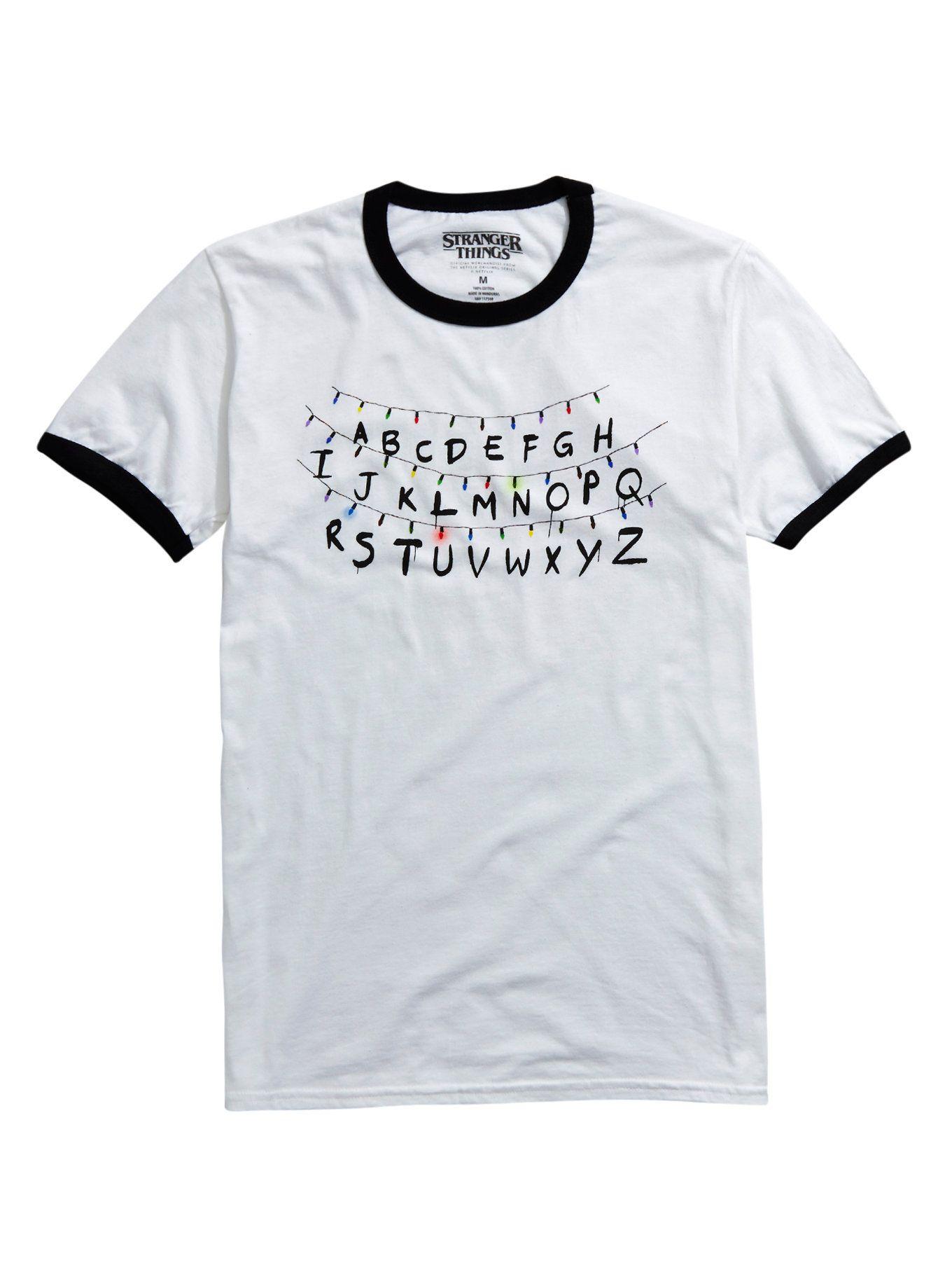 Black light t shirt ideas - Stranger Things Holiday Lights Ringer T Shirt Hot Topic