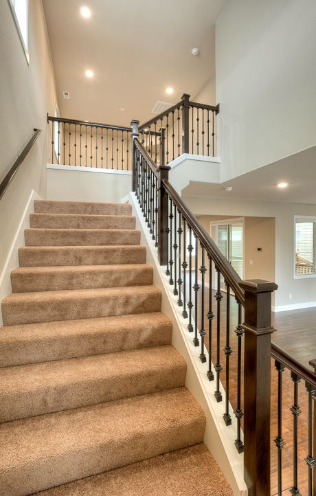 Wrought Iron Railing Stair Remodel
