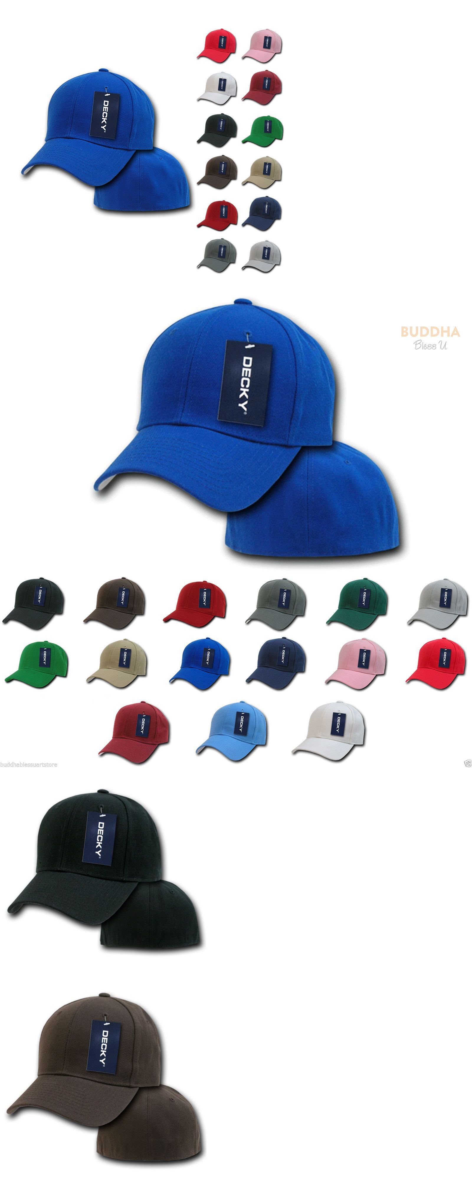 get cheap 2a288 f2d3e Mens Accessories 45053  1 Dozen Decky Plain Fitted Curved Bill Baseball  Hats Caps Wholesale Lot -  BUY IT NOW ONLY   69.99 on  eBay  accessories   dozen ...